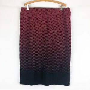 ECI Ombré Polka Dot Skirt